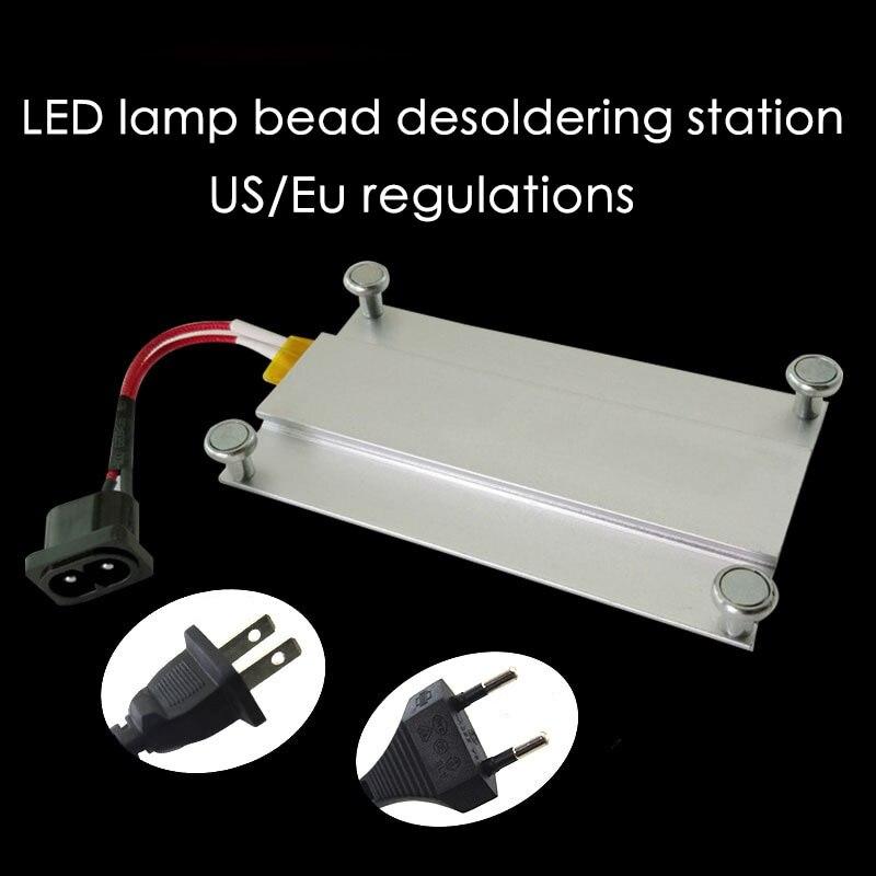 550W lampe à led à dessouder perle station à dessouder fièvre plaque de préchauffage station LCD bande puce réparation thermostat plaque chauffante