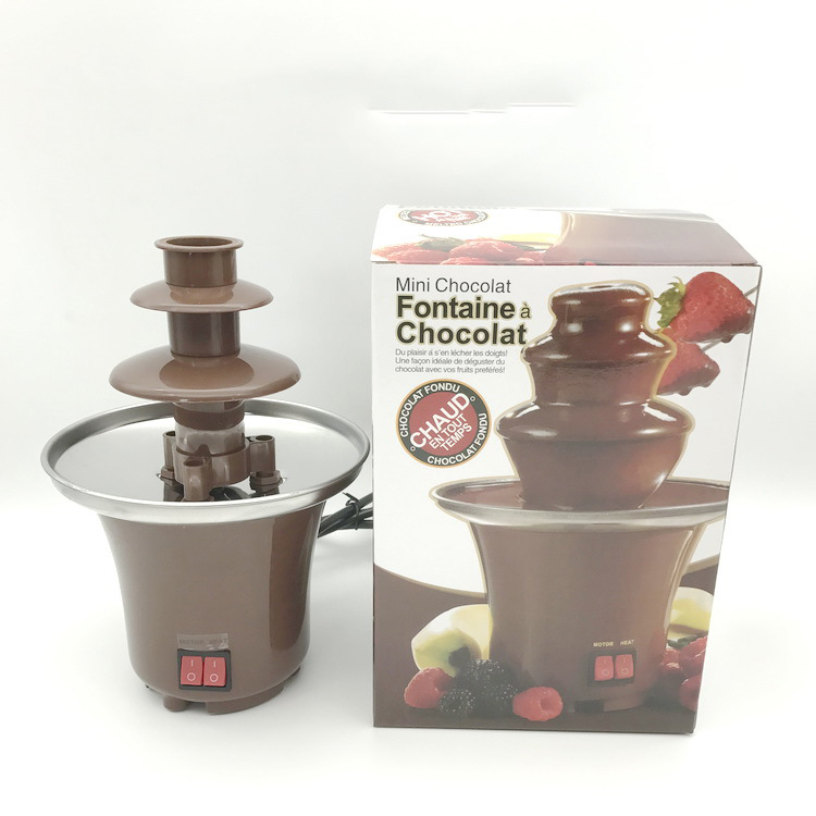 A Generation Of Fat Mini Household Chocolate Fountain Machine Melting Tower Mixer Melt Stewing Pot Waterfall Machine Manufacture
