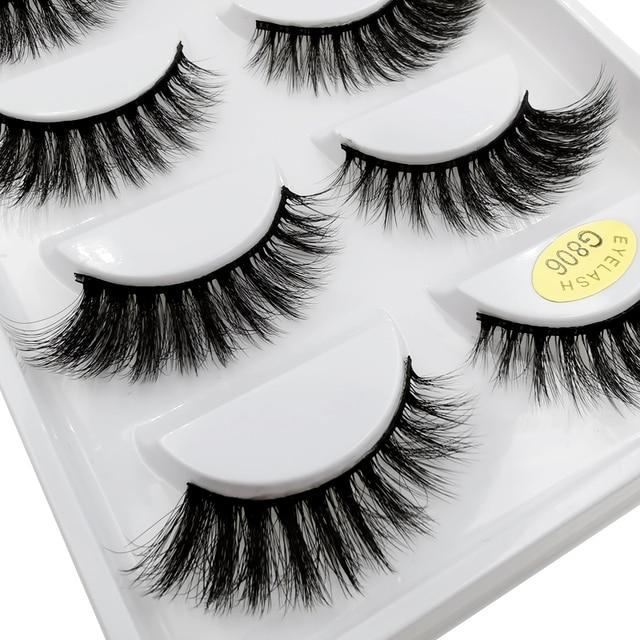5 Pairs eyelashes 3d mink lashes eyelash extension natural false eyelashes volume lashes maquillaje mink eyelashes makeup cilios 4