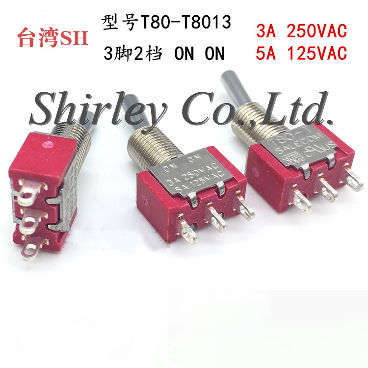 100% new Original Import Toggle Switch 3 Pins 2 Pins <font><b>T8013</b></font> Rocker Switches T80-T Toggle Switche image
