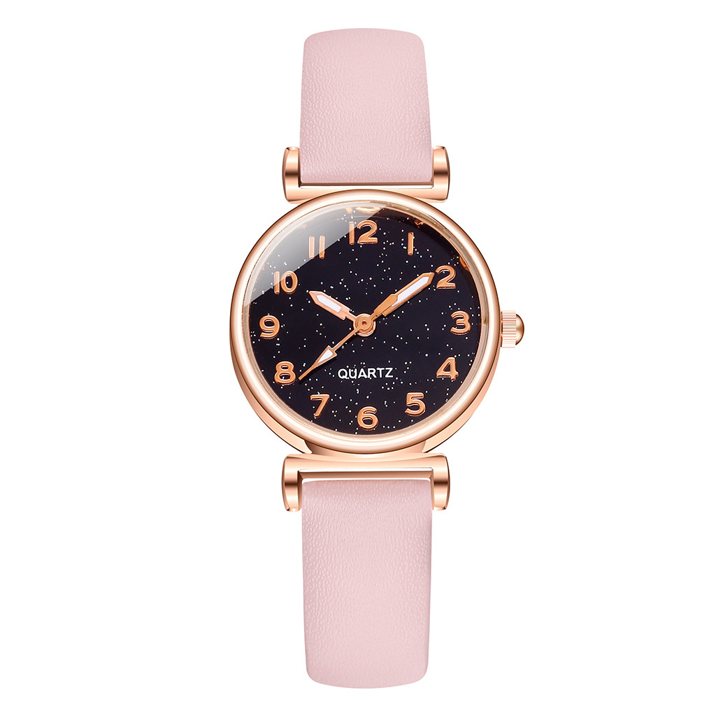 Stylish Exquisite Minimalist Digital Star Belt Lady Quartz Watch Giftwrist Women Watch Clock Wristwatch