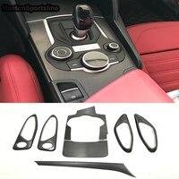 Alfa Romeo Giulia 탄소 섬유 자동차 글러브 박스 트림 인테리어 도어 패널 및 부품 2017UP LHD
