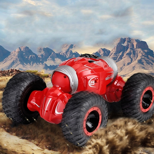 JJRC Q70 RC Stunt Car Double sided Drive Radio Control 4WD Desert Cars Off Road Buggy Toys High Speed Climbing RC Car Kids GiftsRC Cars