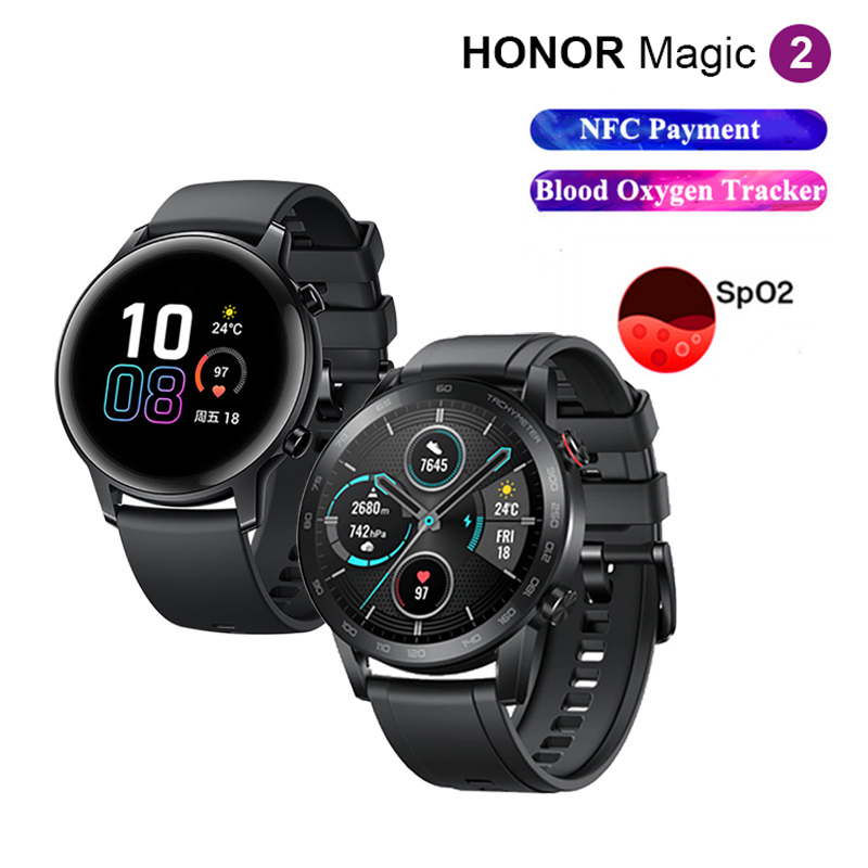 Honor Magic <font><b>Watch</b></font> 2 CN Version <font><b>Smart</b></font> <font><b>Watch</b></font> <font><b>Bluetooth</b></font> 5.1 Smartwatch Blood Oxygen Monitor 14 Days NFC Payment MagicWatch 2 image