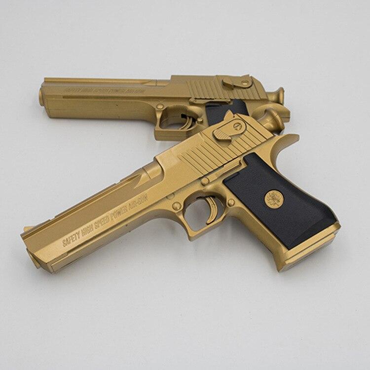 Stall Hot Selling Gold Desert Eagle Pistol Soft Bullet Gun Bullets Military Model Children Toy Gun Manufacturers Direct Selling