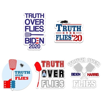 Truth Over Lies Biden Harris Fly Swatter Debate Sticker Waterproof Christmas Halloween Decal Decorations image