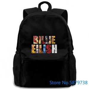 Billie Ocean Eyes Singer Eilish muzyka duży wentylator dostosowane nowe kobiety mężczyźni plecak laptop travel school adult student