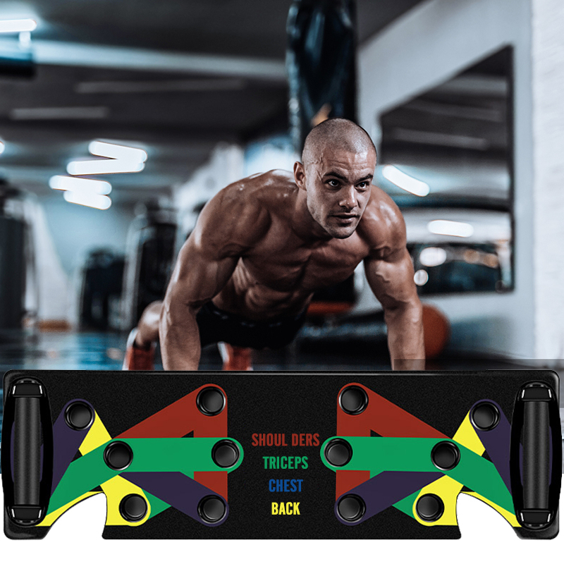 9 In 1 Push Up Rack Board Men Women Comprehensive Fitness Exercise Push-up Stands Body Building Training System For Dropshipping
