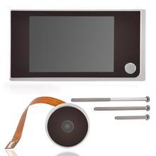 Мини HD открытый электронный дверной видео звонок Камера просмотра Анти Вор 3.5in Крытый ЖК дисплей Цвет Экран визуальный 120 ° домашний Сейф безопасности