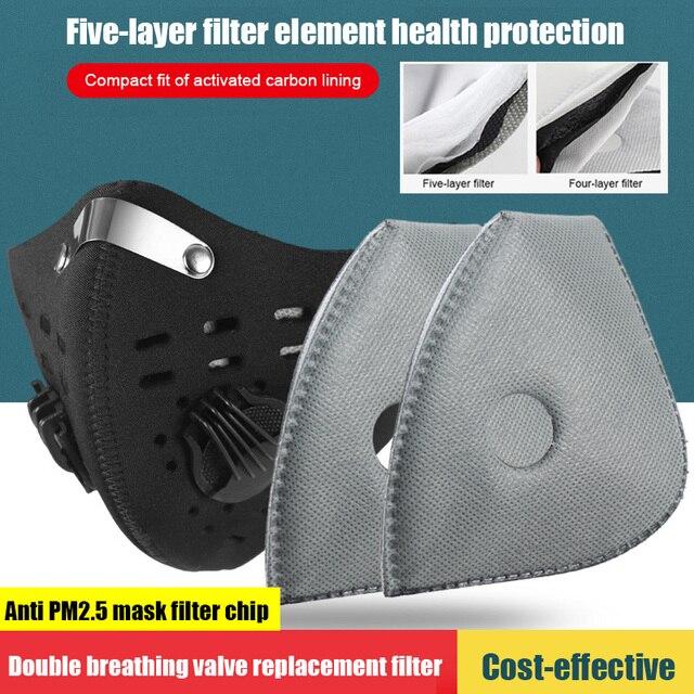 10 قطعة/المجموعة 5 طبقات الهواء التلوث الغبار مكافحة PM2.5 استبدال الوجه الفم أقنعة تصفية مع المنشط الكربون للرجال النساء