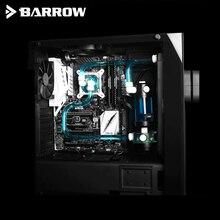 Barrow YR01 Kit de refrigeración por agua para CPU, tubos duros, radiador de cobre de 240mm, bloque de CPU LED, 120x120x25mm, accesorios duros para tubos