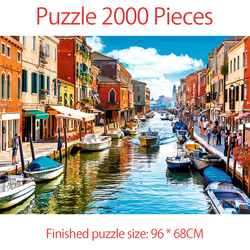 Jigsaw Puzzles For Adult Puzzle 2000 Pieces Venice Murano Kids Creativity Imagine Educational Toys Puzzles Game Gift Decoration