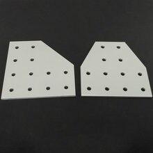 Placa de junta soporte de ángulo de esquina, junta de conexión para perfil de aluminio de doble ranura 4040 6060, 12 agujeros, 1 ud.