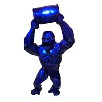 Big Creative KingKong Resin Statue Gorilla Bust Figure Model Toy BOX Collectible Decoration Art Craft and Animal Simulation gift
