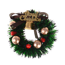 1Pc 1:12 Scale Dollhouse Mini Miniature Christmas Wreath Garland Ornaments Xmas Decor