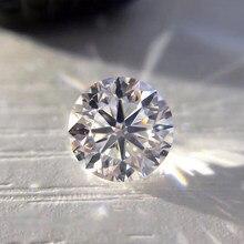 Moissanita holgada de 8mm de Color D, 2ct, VVS1, excelente corte brillante redondo, fabricación de joyas, piedra, material artesanal, Diamante de laboratorio