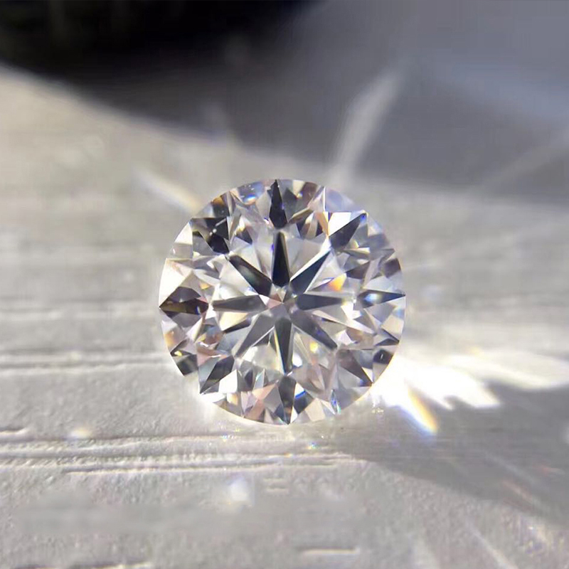 White D Color VVS Round Cut Moissanite Stone With Certificate By Excellent Cut