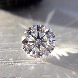8mm D Kleur Losse Moissanite 2ct VVS1 Uitstekende Ronde Briljant Geslepen Sieraden Maken Steen DIY materiaal Lab diamond