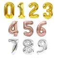 40-дюймовые фольгированные шары в виде цифр, 32-дюймовые цифры, цифры, украшения для вечеринки в честь Дня Рождения, свадебные шары для детей и ...