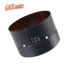 GHXAMP 100 มม.ขดลวดเสียงวูฟเฟอร์รอบแก้วลวดโครงกระดูกเสียงหลุม Vent 2 ชั้นทองแดงบริสุทธิ์ 100 Core BASS 1Pcs
