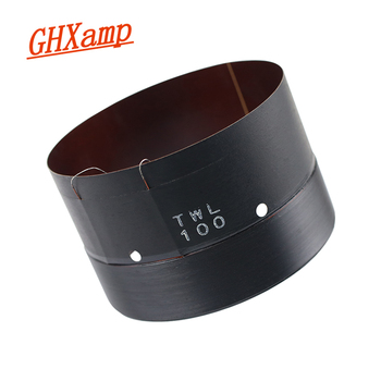 GHXAMP 100mm Woofer Voice Coil Round Wire Glass Fiber Skeleton With Sound Hole Vent 2 Layer Pure Copper Wire 100 Core Bass 1Pcs
