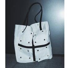 Вместительные холщовые повседневные сумки тоуты через плечо
