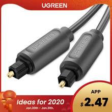Ugreen Digital Optical Audio Cable Toslink 1m 3m SPDIF Coaxial Cable for Amplifiers Blu-ray Player Xbox 360 Soundbar Fiber Cable