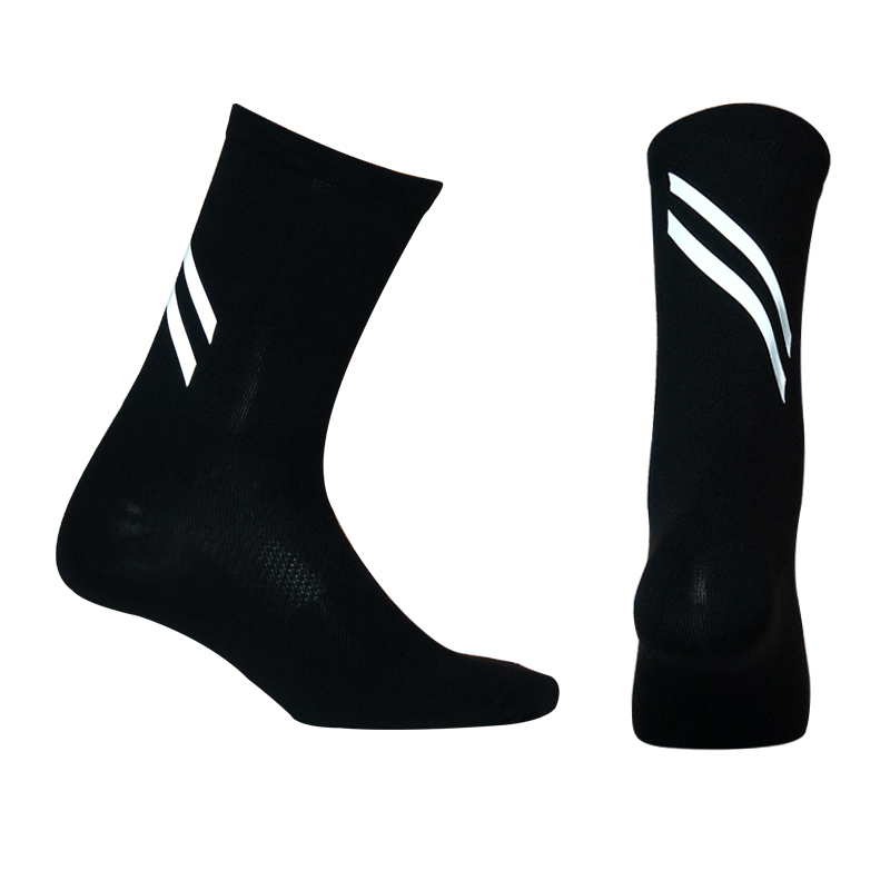 2020 New Highly Reflective Cycling Socks Men Women Breathable Bicycle Bike Socks Night Safety Outdoor Sport  Running Socks