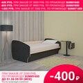 Кровать Фаина (Дуб молочный, ЛДСП, Дуб Венге, 900х2000 мм) Термит