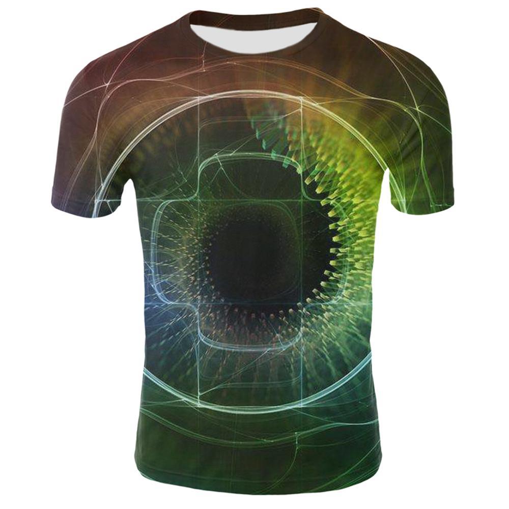 Футболка для фитнеса, Мужская Повседневная Удобная Спортивная футболка, 3D цветная Смешанная Футболка с принтом, трендовая Мужская