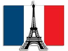 エッフェル塔フランス国旗型ステッカー (フランスパリ) ステッカー車用、モト、ラップトップ、業界