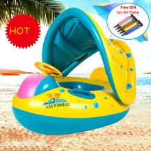 Swimtrainer Pool Inflatable Buoy Inflatable Circle Kids Swimming Circle Baby Float with Sunshade Seat Swimming Pool Accessories