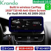 "Krando Android 10 12.3""for Audi A4 A4L A5 2009-2015 Android car radio multimedia player car radio som automotivo para carro"