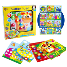 Puzzles-Toy Educational-Toys Kids 3D Assembling Nails-Kit Buttons Picture Mushrooms Mosaic
