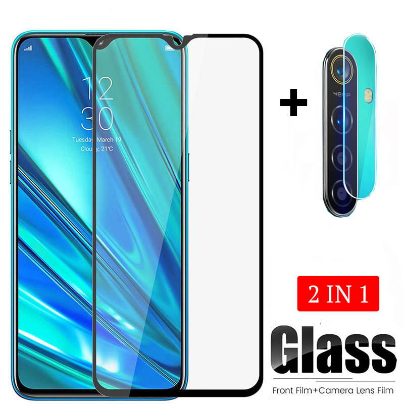 2-in-1 Tempered Glass For OPPO Realme 5 Pro 5Pro Realme5 Pro Camera Lens Protection Film Screen Protector 6.3