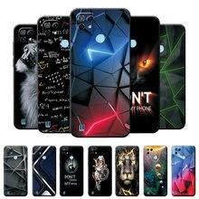 Para realme c21 caso capa de silicone macio para realme c21 6.5 polegada estilo geométrico telefone caso para oppo realme c21 c 21 moda capa