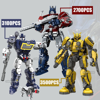 New Transformation Super Technic Giant Robot Fit Optimus Deformation Prime Heroes MOC Building Block Brick Model Toy Kid Gift new idea rc motor power functions wall e robot fit technic figures moc building block bricks diy toy gift kid birthday xmas