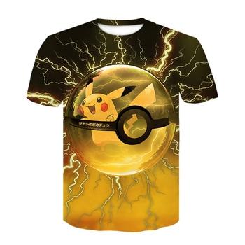 New classical Pokemon cartoon anime t shirt men/women 3D printed novelty fashion tshirt hip hop streetwear casual summer tops 1