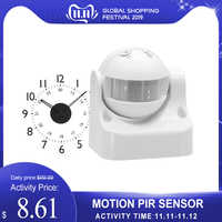 Outdoor Security Infrared Motion PIR Sensor Switch Movement Detector Max 12m 3-2000LUX Energy-saving Automatic Lighting Switch