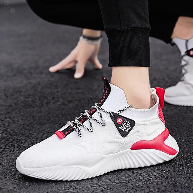 Zapatillas deportivas de malla para hombre, zapatos informales, transpirables, cómodos, a la moda, para exteriores, para verano 3
