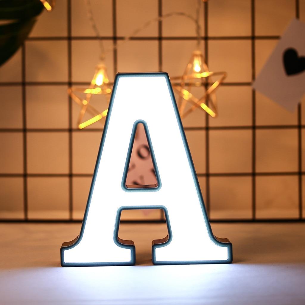 Светодиодный ночник с английской буквой «сделай сам», 26 дюймов, Креативный светодиодный светильник с буквами s, пластиковый светильник с ан...