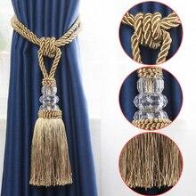 2 шт. украшения кисточка tieback Пластиковая шариковая занавес аксессуар-ремешок для ножей галстук-бабочка для штор