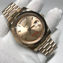 Get more info on the Luxury Brand Rose gold watch diamonds number DAY DATE mechanical glide smooth 40mm mens AAA quality Wristwatches
