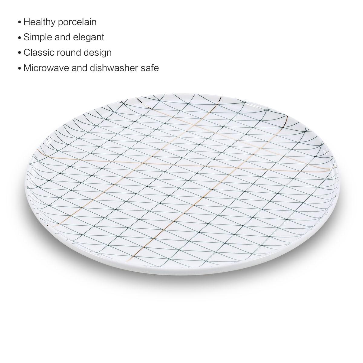 Assiette en céramique pour vaisselle fruits tasse à café assiette porcelaine vaisselle micro-ondes lave-vaisselle plaque accessoires de cuisine