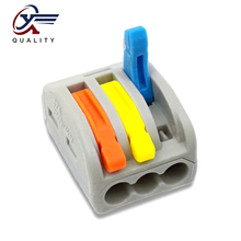 30/50/100 PCS/lot PCT-213/ 222-213 color mini fast wire Connectors Universal Compact Wiring Connector push-in Terminal Block 30 50 100 pcs lot pct 214 color 222 214 mini fast wire connectors universal compact wiring connector push in terminal block
