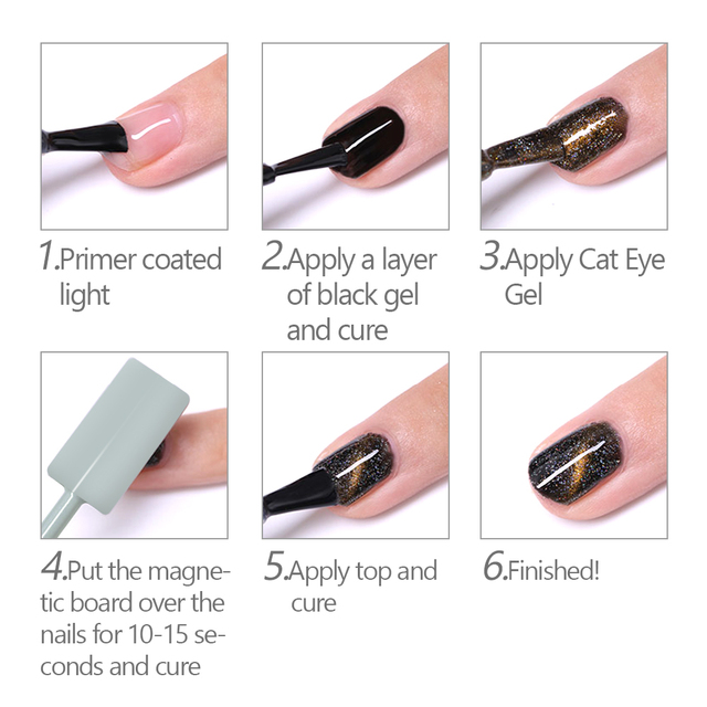 Magnet Board UV Cat Eyes Pencil for UV Painting Gel Nail Polish Strong Magnetic Nail Stick Manicure Nail Art Tool Magnetic Pen 5