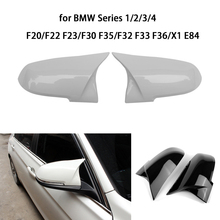 Rearview Mirror Cover for BMW Series 1/2/3/4 F20 F22/F23 F30/F35 F32/F33/F36 X1 E84 ABS Car Rear View Mirror Cover Shell Caps for bmw 4 series f32 f33 f36 420i 428i 435i 2014 up replacement carbon fiber m4 look rear view mirror cover caps