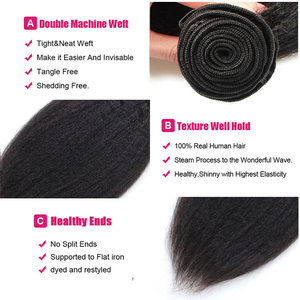 Image 5 - Ishow 4 Bundles Brazilian Yaki Gerade Menschliches Haar Weave Bundles 100% Menschliches Haar Verworrene Gerade Nicht Remy Haar Extensions