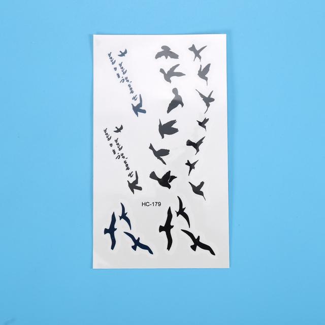 Wrist Temporary Tattoo Stickers Temporary Body Art Waterproof Small Birds Fly Tattoo Pattern Tattoos Sticker