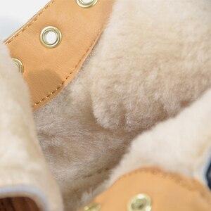 Image 4 - 도나 인 캐주얼 여성 겨울 부츠 따뜻한 모피 정품 가죽 여성 발목 부츠 플랫폼 발 뒤꿈치 부츠 여성 스노우 슈즈 사이즈 41 43